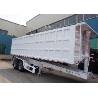 Buy cheap TITAN VEHICLE 2 axle 30 cbm steel semi end dump trailers for  bad road work from wholesalers