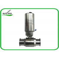 Wholesale Elegant Design Sanitary Ball Valves Stainless Steel , Pneumatic Actuated Ball Valve from china suppliers