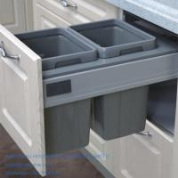 Buy cheap DIY kitchen double waste bin 26L fit to soft closing drawer runner from wholesalers