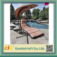 Encase Rattan Outdoor Patio Swing Chair , Swing Hanging Chair With Cushion Manufactures