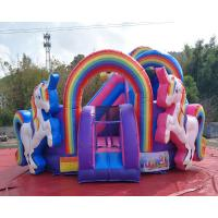 Buy cheap Kids Party Durable Pvc Inflatable Unicorn Bouncy House Combo Chateaux Gonflables from wholesalers