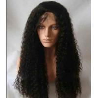 """Black Long Natural Wave 18"""" remy human hair full lace wigs Tangle Free"""