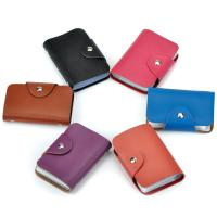Buy cheap hot sell cheap leather credit card holder slim pocket 26 cards holder Business Card Package PU Leather Bag from wholesalers