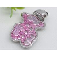 China Pink Color Bear Shape stainless steel Pendant 1239001 on sale