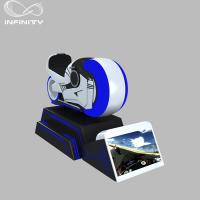 Buy cheap 1 Person Online Race 9D VR Motorcycle Car Driving Simulator Black Or White Color from wholesalers