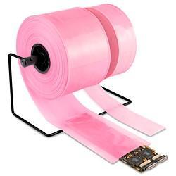 Anti static pink poly lay flat tubing