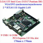 Buy cheap IPC LGA1155 H61 6COM DVI display ATM machine Queue mini itx motherboard M61 DVI VGA dual display from wholesalers