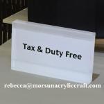 Buy cheap Laser cut acrylic block silk screen printing acrylic sign block from wholesalers