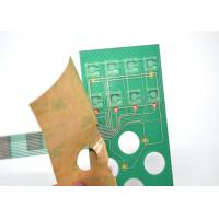 Wholesale Push Button Single Membrane Switch LED , Flat PCB Membrane Switch Panel from china suppliers