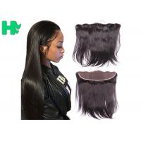 Smooth Human Hair Closure 13*4 Lace Frontal Closure Straight Natural Black 8A Manufactures