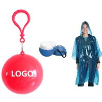 Buy cheap Colorful Round Ball Poncho Promotional Keychain Logo Customized from wholesalers