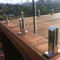 Wholesale New model durable prefabricated stainless steel railing design with glass balustrade from china suppliers