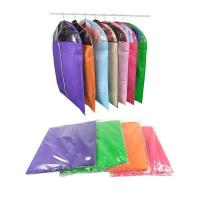 Buy cheap eco friendly non woven farbrics dress clothes garment storage bags  for household  travel with PVC visible window from wholesalers