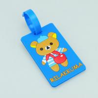 Wholesale 2014 bear logo Custom blue 10.5*5.5*0.5 cm luggage tag from china suppliers