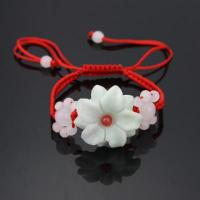 Buy cheap Handmade Braided Rope Jade Bracelet--Rose from wholesalers