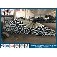 Buy cheap Hot Dip Galvanised Steel Pole , Electrical Post Electric Power Pole from wholesalers