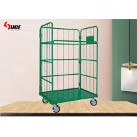 Buy cheap Customized Size Heavy Duty Plastic Steel Mesh Cage Trolley Roll Box Powder Coated from wholesalers
