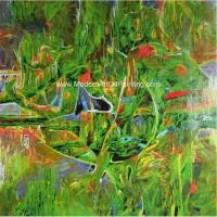 Buy cheap Landscape Abstract Modern Art Oil Painting 100% Hand - Painted Gift For A Festival from wholesalers