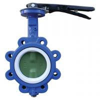 Buy cheap EPDM Seated Manual Lug Butterfly Valves Wafer Type For Ship Building / Textile from wholesalers