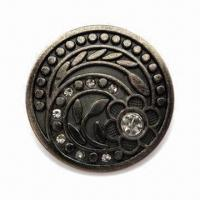 Buy cheap Jeans Button, Made of Zinc Alloy, Different Sizes are Available from wholesalers