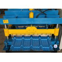 Buy cheap Durable Roof Building Roll Forming Machine , Steel Colored Glazed Tile Making Machine from wholesalers