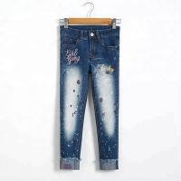 Buy cheap Slim Fit Kids Denim Clothes Children Jeans Pant Color Print Embroidered from wholesalers