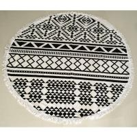 Buy cheap Cotton tassels round beach towel wholesale from wholesalers