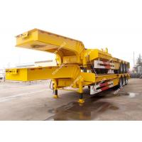 Buy cheap Tri Axle Heavy Duty Low Loader Semi Trailer For Heavy Equipment Transport from wholesalers