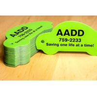 Customize PVC Plastic Cards , Printable Plastic Keyring Tags With Slot Punched Manufactures