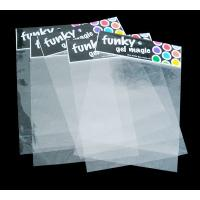 Buy cheap Cpp / OPP Header Bag With Self Adhesive Flap And High Clear from wholesalers