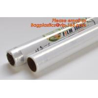 Buy cheap Transparent PVC cling film for food wrap, Safe and Fresh Preservation cling film, cling film pvc/Clear Vinyl roll / Plas from wholesalers