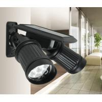 Wholesale PIR Motion Sensor Solar LED Garden Lights Dual Head Spotlight Adjustable Waterproof from china suppliers