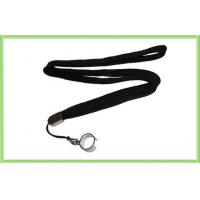 Black Electronic Cigarette Lanyard Necklace with Ring , EGo E Cig Accessories Manufactures
