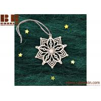 Buy cheap Hot Sale Snowflake Wood Embellishments Craft Christmas Tree Hanging Ornament Decor from wholesalers