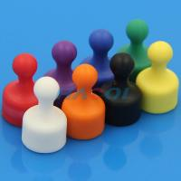 Wholesale Neodymium colorful office plastic coated magnet push pin from china suppliers
