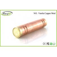 Rechargeable Mechanical Mod E Cig Vanilla Copper Mod Clone 1000 Puffs CE ROHS FCC