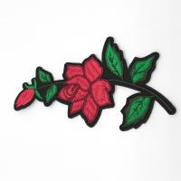 Buy cheap Clothing Appliques Flower Embroidery Patches 100% Polyester Material Delicate from wholesalers