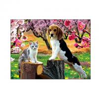 Wholesale Lovely Cats And Dogs 3D Lenticular Pictures Printing Customized Size from china suppliers