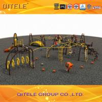 Buy cheap Professional Kids Outdoor Gym Equipment , Climbing Playground Equipment For School product