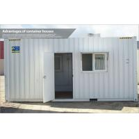 Buy cheap Movable storage prefab container house , steel frame modular homes with PVC cover from wholesalers