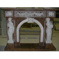 Buy cheap White Marble Fireplace, Delicate High Polished White Marble Fireplace from wholesalers