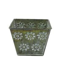 Buy cheap antiqued metal flower pot bucket for garden decoration from wholesalers