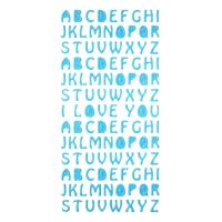 Buy cheap Blue Letter Glitter Stickers 3D Foam Education Stickers 1.8MM Thick from wholesalers