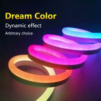 Buy cheap Dream Color LED Neon Flex Strip , Programmable LED Neon Lights SPI Signal Control from wholesalers