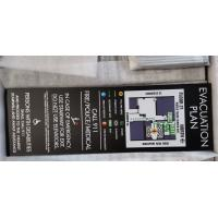 Buy cheap 1/4 Wayfinding Signage Custom Building Evacuation Maps Uv Resist Print Information from wholesalers