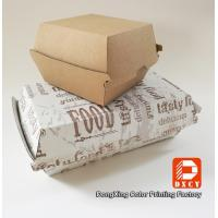 Buy cheap Grease Proof Recycled Fast Food Packaging Foldable With Offset Printing from wholesalers