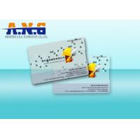 Buy cheap Clear Custom Printed Cards PVC Transparent Business Cards 85.5×54×0.76mm from wholesalers