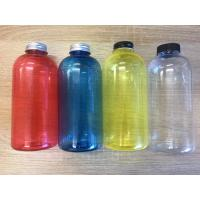 Buy cheap 500ml 17oz Clear Plastic Bottles Round Empty Juice Glass Beverge With Cap from wholesalers