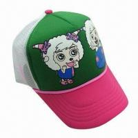 Buy cheap Sports cap, material sponges and polyester nets cloth from wholesalers