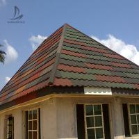 Buy cheap Sangobuild China price 24 25 26 gauge red black stone coated ceramic tiles metal roofing shingles for house roof plan from wholesalers